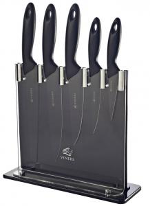 Набор из 5 ножей и подставки Silhouette