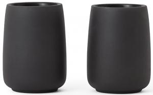 Набор из двух чайных стаканов Nicola 170 ml графитового цвета