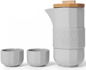 Чайный набор Alexander 500 / 50 ml песочно-серого цвета