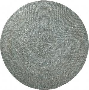 Ковер круглый из джута Dip Ø150 CM голубой
