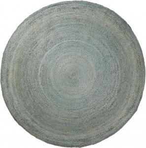 Ковер круглый из джута Dip Ø200 CM голубой