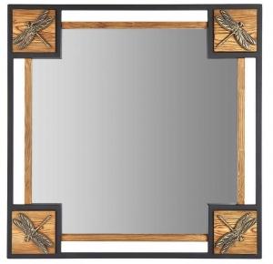 Зеркало в стальной раме Dragonfly 72X72 CM