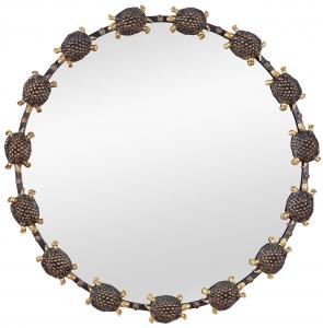 Зеркало в стальной раме Turtle Ø85 CM