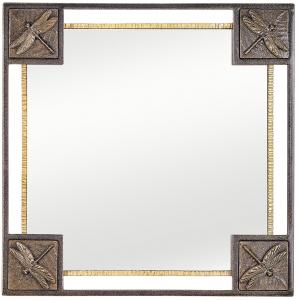 Зеркало в стальной раме Dragonfly Gold 72X72 CM