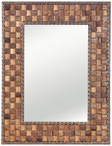 Зеркало в раме из стали и дерева Square 80X103 CM