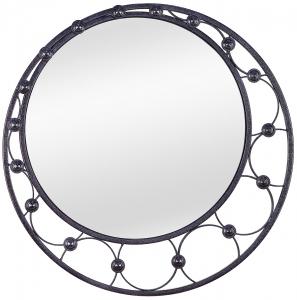 Зеркало в раме из стали Shield Ø80 CM