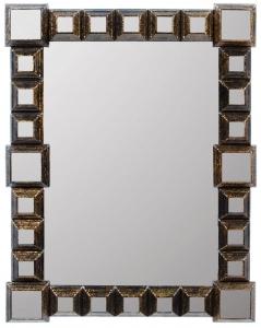 Зеркало в стальной раме Pyramid 69X88 CM