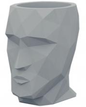 Кашпо в форме головы Adan 30X41X42 CM серое