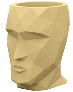 Кашпо в форме головы Adan 30X41X42 CM бежевое