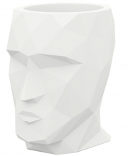 Кашпо в форме головы Adan 30X41X42 CM белое