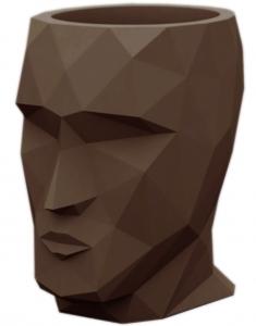 Кашпо в форме головы Adan 30X41X42 CM коричневое