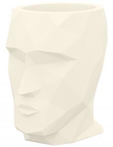 Кашпо в форме головы Adan 30X41X42 CM кремовое