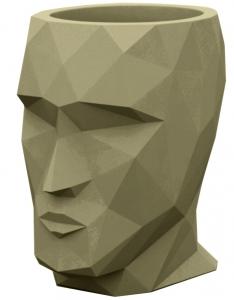 Кашпо в форме головы Adan 30X41X42 CM хаки