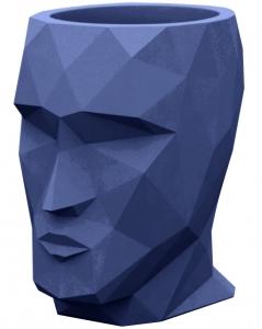 Кашпо в форме головы Adan 30X41X42 CM синее