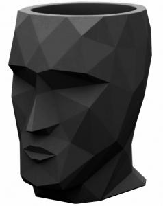 Кашпо в форме головы Adan 30X41X42 CM чёрное