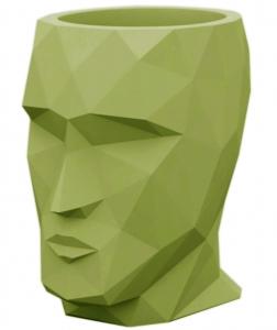 Кашпо в форме головы Adan 30X41X42 CM зелёное