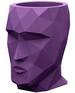 Кашпо в форме головы Adan 30X41X42 CM фиолетовое