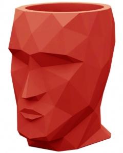 Кашпо в форме головы Adan 30X41X42 CM красное
