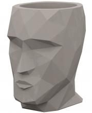Кашпо в форме головы Adan 30X41X42 CM серо коричневое