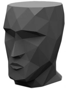 Табурет в форме головы Adan stool 30X41X42 CM серый