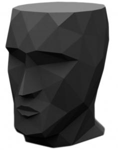 Табурет в форме головы Adan stool 30X41X42 CM чёрный