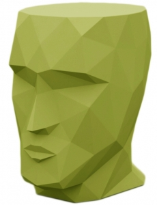 Табурет в форме головы Adan stool 30X41X42 CM фисташковый