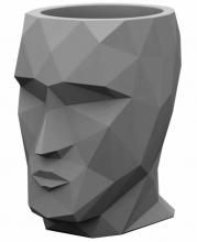 Кашпо в форме головы Adan Nano 13X17X18 CM тёмно-серое