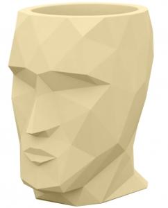 Кашпо в форме головы Adan Nano 13X17X18 CM бежевое