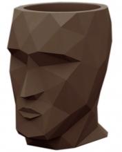 Горшок для цветов в форме головы Adan Nano 13X17X18 CM коричневый