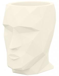 Кашпо в форме головы Adan Nano 13X17X18 CM кремовое