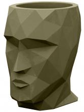 Кашпо в форме головы Adan Nano 13X17X18 CM цвет хаки