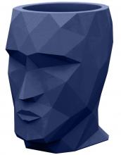 Кашпо в форме головы Adan Nano 13X17X18 CM синее