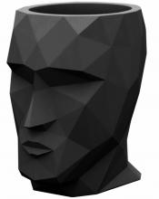 Кашпо в форме головы Adan Nano 13X17X18 CM чёрное