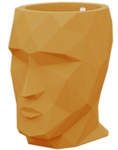 Кашпо в форме головы Adan Nano 13X17X18 CM оранжевое