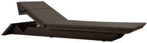 Шезлонг Rest 226X72X20 CM коричневого цвета