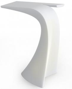 Барный стол с LED подсветкой Wing 76X50X100 CM белого цвета