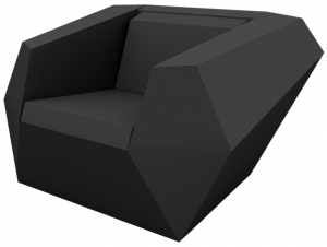 Кресло Faz 120X100X70 CM чёрное