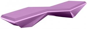 Шезлонг Faz Sun Chaise 204X70X42 CM фиолетового цвета