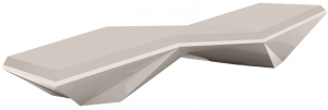Шезлонг Faz Sun Chaise 204X70X42 CM светло-серого цвета