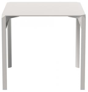 Пластиковый стол Quartz 79X79X73 CM  серо бежевого цвета