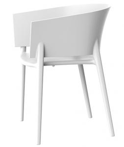 Дизайнерский стул Africa 58X53X75 CM белого цвета