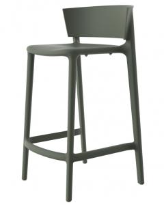 Полубарный стул Africa 48X47X85 CM зелёного цвета