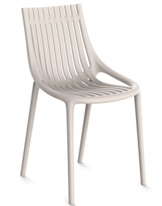 Пластиковый стул Ibiza 46X51X81 CM серо бежевого цвета