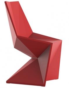 Стул Vertex 53X53X86 CM матового красного цвета