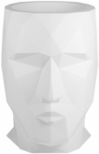 Кашпо в форме головы Adan 70X96X100 CM белое