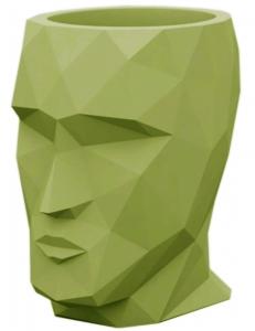 Кашпо в форме головы Adan Nano 13X17X18 CM зелёное