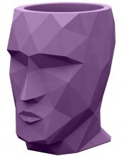 Кашпо в форме головы Adan Nano 13X17X18 CM фиолетовое