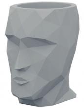 Кашпо в форме головы Adan Nano 13X17X18 CM серое