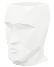 Полигональное кашпо в форме головы Adan Nano 13X17X18 CM белое