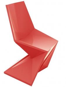 Стул Vertex 53X53X86 CM глянцевого красного цвета